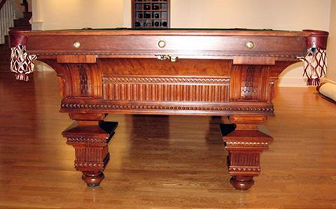Antique billiard table, The Jewel