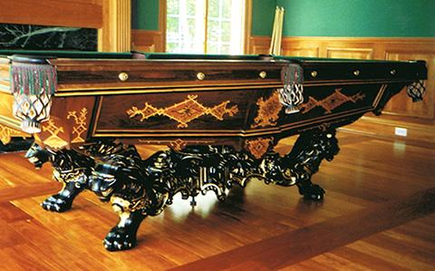 The Monarch, coveted antique billiards table