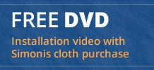 Free installation DVD with Simonis cloth purchase