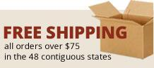 Free Shipping on all over $75 in the 48 contiguous states