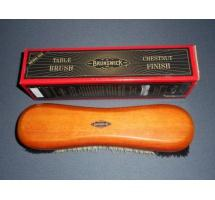 Brunswick Natural Hair Table Brush featuring Chestnut finish with Brunswick logo