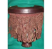 Dark Brown Billiard Pocket with Multi-Color Fringe